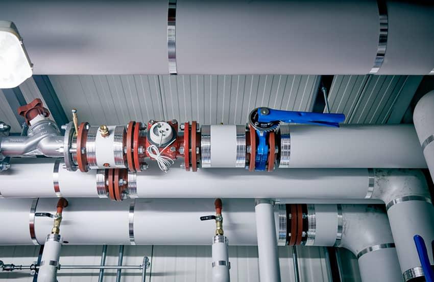 Details of a boiler plant room