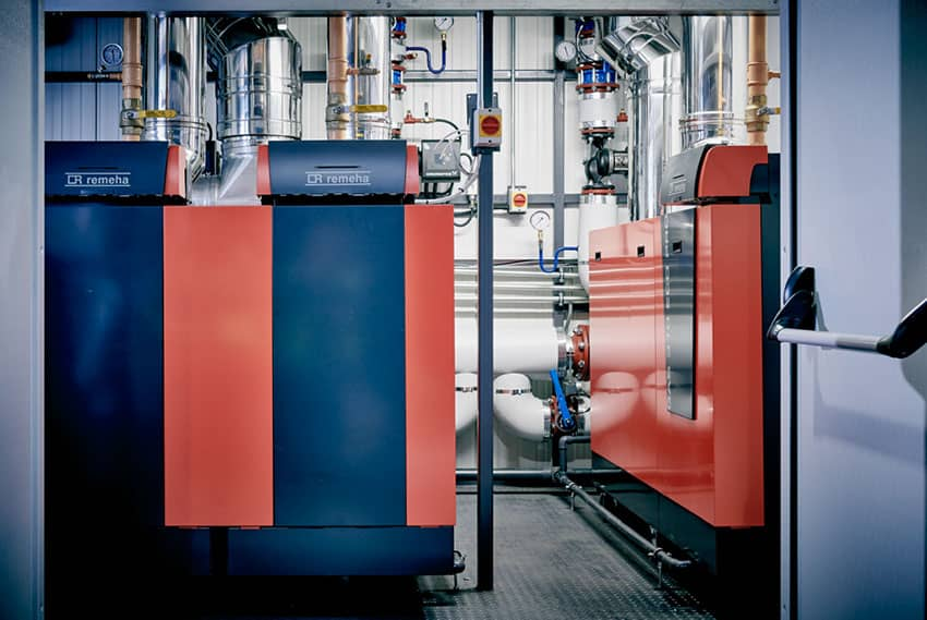 Boiler plant room with Remeha boilers